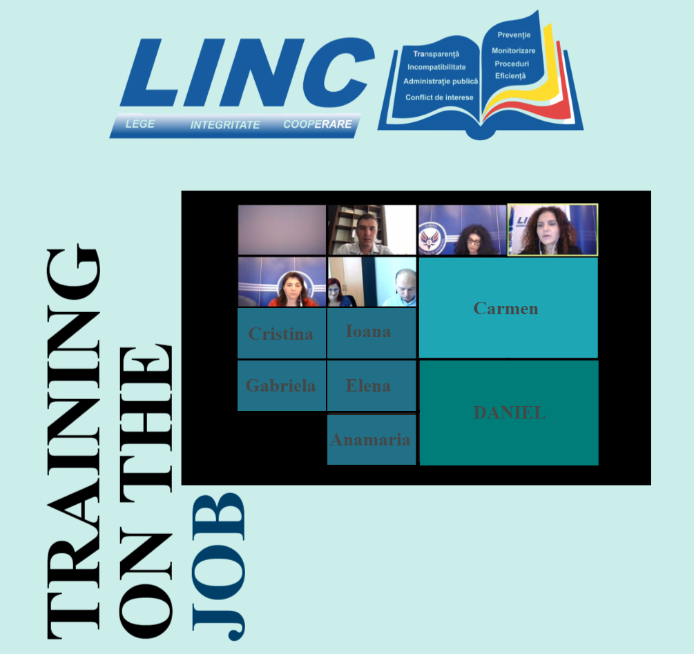Proiectul LINC – training on the job la Ministerul Justiției